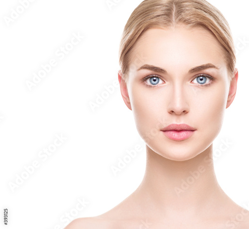 Beautiful woman with perfect fresh clean skin